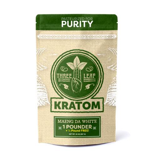 Three Leaf Maeng Da White Kratom Powder