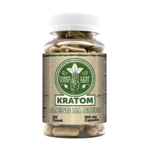 Three Leaf Maeng Da Green Kratom Capsules