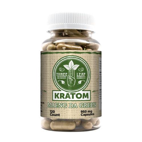 Three Leaf Maeng Da Green Kratom Capsules