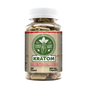 Three Leaf Maeng Da Red Kratom Capsules