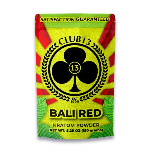 A bag of Club13 Bali Red Kratom Powder 150 Grams