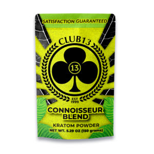 A bag of Club13 Connoisseur Blend Kratom Powder 150 Grams