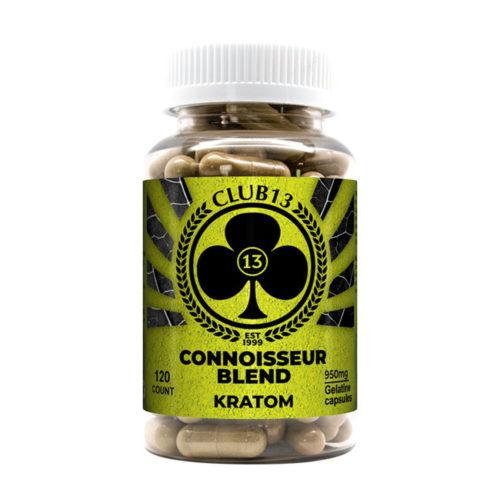 A bottle of Club13 Connoisseur Blend Capsules