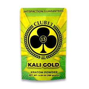 A bag of Club13 Kali Gold Kratom Powder 150 Grams