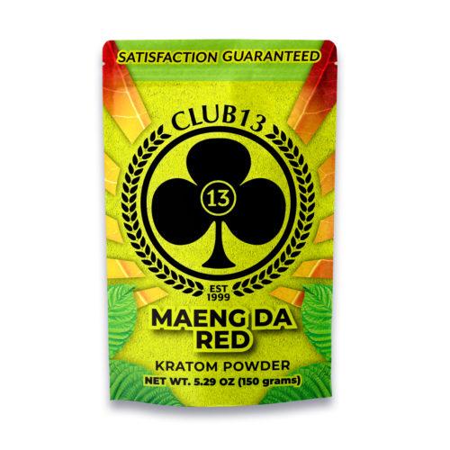 A bag of Club13 Maeng Da Red Kratom Powder 150 Grams